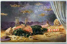 """Arsen Savadov """"Gulliver's dream"""", oil on canvas, 255x400 cm, 2014"""