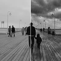 "Add Dramatic Rain to a Photo in Photoshop+(via+<a+href=""http://psd.tutsplus.com/tutorials/photo-effects-tutorials/dramatic-rain-effect-photoshop/"">psd.tutsplus.com)"
