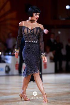 Latin dance dress wit a 1950s feel.