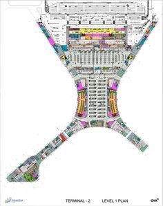 Chhatrapati Shivaji International Airport - Terminal 2,Level 1. Image courtesy SOM / © SOM / GVK, Mumbai International Airports Pvt. Ltd