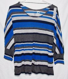 JCP Dolman Shirt Top Women's 3X Plus Size NEW WITH TAGS