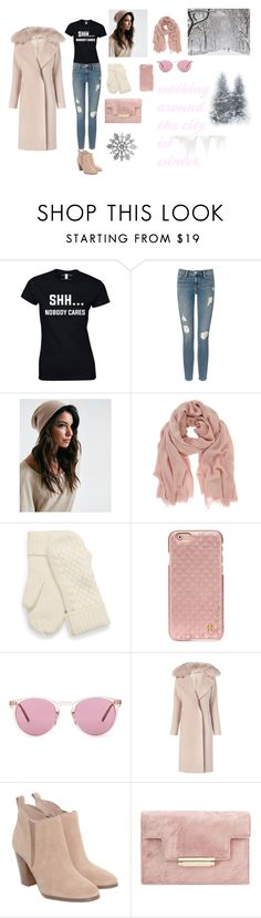 """""""Walking around the city in winter"""" by adriacowell22 ❤ liked on Polyvore featuring Frame Denim, Mint Velvet, Tory Burch, Oliver Peoples, Diane Von Furstenberg and Michael Kors"""