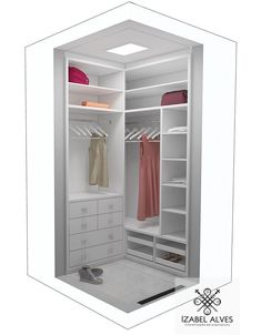 closet layout 393009504986126708 - Mini closet Source by michelejalabert Corner Wardrobe Closet, Dressing Room Closet, Wardrobe Design Bedroom, Dressing Room Design, Bedroom Wardrobe, Bedroom Cupboard Designs, Bedroom Cupboards, Closet Layout, Small Closet Organization