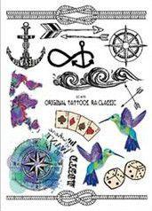 1sheet NEW Multi-style 24models Taty Temporary Tattoos arm tattoo Body paint Wolf Feather Owl Dreamcatcher kiss Colored tatuagem