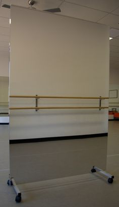Glassless mirrors on rolling stands, also known as portable dance mirrors are the perfect solution if you do not have the wall space to mount mirrors.