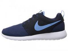 Nike Roshe Run Casual Schoenen Heren Middernacht Marine Universitaire Blauw Wit kopen. Factory Store Belgie