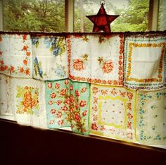 Vintage Handkerchiefs & Scarves Upcycled and Repurposed - all kinds of lovely ideas with vintage hankies