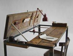 space-saving transformer furniture. Dining table to desk via Manoteca.