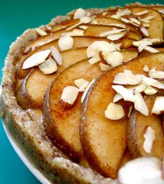 I'm finally starting to get a little stoked for Autumn! - Vegan & Gluten-Free Cashew Creme Pear Tart