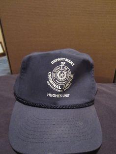 ef8502557f6aa Texas Dept Of Criminal Justice Hughes Unit Baseball Cap Hat  fashion   clothing  shoes