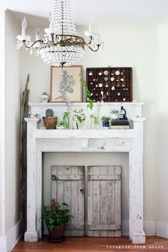 Thoughts from Alice: Seasons of Home: Midsummer Botanical Mantel