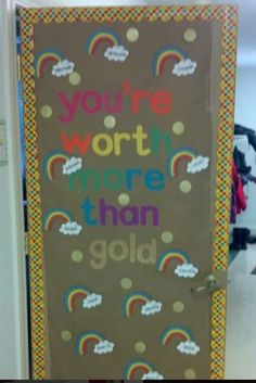 spring, rainbow and/or St. Patrick's Day door >> Bulletin Board Ideas for the Christian Classroom