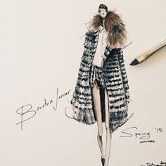 Fashion illustration - stylish fashion sketch // Jeanette Getrost