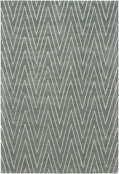 Grey zigzag herringbone chevron pattern. Griffith Park- wool Safavieh rug.  sample at Ruby Living