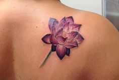 My lotus flower tattoo... Love it!!! All color, no black outline.