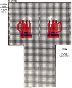 Twin Beer Mugs Socks Pattern chart Knit Socks, Knitted Slippers, Knitting Socks, Graph Design, Beer Mugs, Knitting Charts, Mittens, Needlework, Knitting Patterns