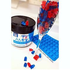 Amino IV BCAA Gummies Ingredients: 1 scoop PEScience Amino IV 2 packets knox gelatin 1/2 cup warm water citric acid (optional for sour gummies) food coloring for colored gummies (optional) Directions: Mix all ingredients in a bowl Microwave for 30sec at a time stirring each time until mixture is clear, warm and goopy. Spoon mixture into molds Place in freezer for 15-20min Remove from freezer and pop out of molds and store in a container or eat right away and enjoy!
