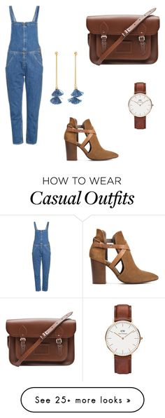 """""""Casual chic every dey"""" by chinensachi on Polyvore featuring Daniel Wellington, M.i.h Jeans, The Cambridge Satchel Company, H London and Ben-Amun"""