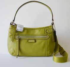 'BNWT, F23978 Coach Daisy Leather Spectator, Green' is going up for auction at  4pm Sat, Oct 19 with a starting bid of $1.