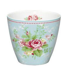 GreenGate Stoneware Latte Cup Amy Pale Blue H 9 cm