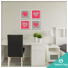 Hoje nossa sugestão é esse lindo conjunto de posters para decorar seu quarto, escritório ou mesmo a sala. Você pode usá-los sozinhos ou combinar com outros modelos!  Peça seu projeto para nossas designs que te ajudamos na decoração de sua casa!