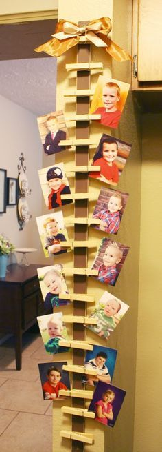 Hanging Photo or Card Holder would be cute with Christmas Cardstock, or do it neutral for all year round use.