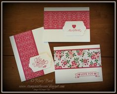Stampin' in the Sand: Super Simple Sunday: Bloomin'  Valentines. Stampin Up Love blossoms designer paper. Stampin Up bloomin love stamp set