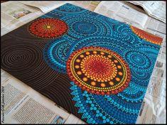 Mandala Doodle, Mandala Dots, Mandala Design, Dot Art Painting, Mandala Painting, Diy Canvas, Canvas Art, Mandala Painted Rocks, Art Projects For Adults