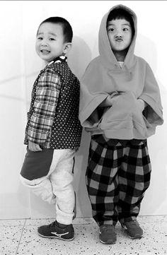 Budding kids's fashion designers in China.