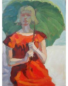 Olivia Pendergast - Green umbrella