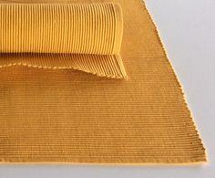 Coppia di americane in cotone colore giallo.