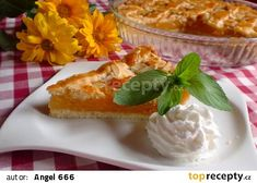 Meruňkový páj recept - TopRecepty.cz Sweet Recipes, French Toast, Pudding, Treats, Cheese, Baking, Breakfast, Club, Sweet Like Candy