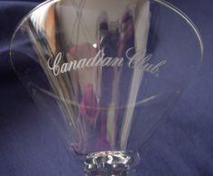 2 Canadian Club Martini Glasses  Distillery Advertising