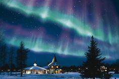 Glowing night of Aurora in Finland.... - Pixdaus