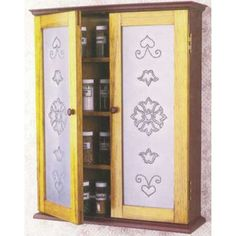 DIY Pierced Tin Spice Cabinet Downloadable Plan - This small but elegant cabinet can have many faces and a multitude of uses, not just a spice cabinet.