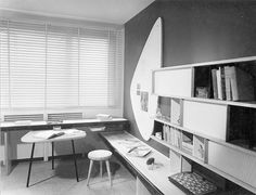 Student Room, Maison de la Tunisie, 1952. Perriand was put in charge of a group that was to design and furnish 40 student rooms.