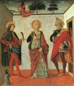 Francesco Botticini - Santi Cecilia, Valeriano e Tiburzio, Madrid, Museo Thyssen-Bornemisza
