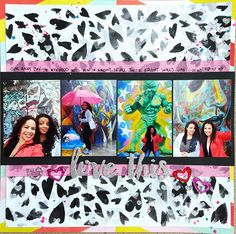 Love This// Mixed Media Scrapbook Layout