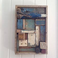 #assemblage #art #foundobjects #boomgallery #christmasshow @boomgallery #studyofblue ngaiolenz