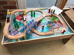 Wooden Train Set Table Elc & Waterfall Mountain Wooden Train Set And Table Kidkraft 17850 | http ...