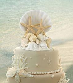 beach theme wedding cake | Beach Themed Wedding Ideas | Wedding Favours Boutique