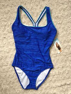 NWT Speedo Women's One Piece Razor Back Blue US Sz 12 Athletic Swim Suit NEW   Clothing, Shoes & Accessories, Women's Clothing, Swimwear   eBay!