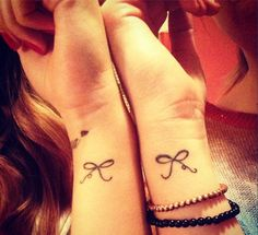 Matching wrist bows for BFFS (sisters!). Image Credit @Dara Crocker