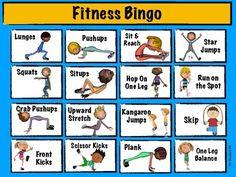 Fitness Bingo by Mr Bucks Phys Ed Physical Education Activities, Pe Activities, Movement Activities, Team Building Activities, Pe Games Elementary, Elementary Physical Education, Kids Education, Health Education, Elementary Schools
