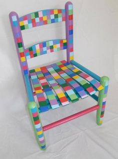 painted child's chair by nellie