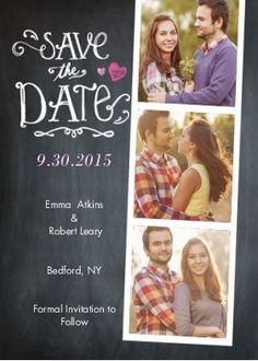 Wedding Save the Date Strip | Save The Date Cards | By tumbalina | Snapfish