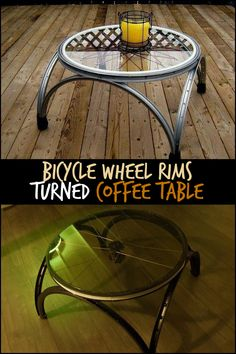 Instead of getting rid of those old bicycle parts, these folks turned them into a coffee table. What do you think of these upcycled pieces?