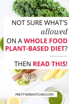 The Whole Food, Plant-Based Diet Explained - Not sure what's allowed on a whole food plant based diet? This beginner's guide explains it all! Plant Based Diet Meals, Plant Based Whole Foods, Plant Based Eating, Plant Based Recipes, Plant Diet, Healthy Food To Lose Weight, Healthy Diet Plans, Eat Healthy, Whole Food Diet