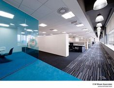 Office designs where workstyle meets lifestyle - commercial office interior o Contemporary Stairs, Contemporary Apartment, Contemporary Office, Contemporary Interior Design, Office Interior Design, Office Designs, Contemporary Cottage, Contemporary Style, Contemporary Building