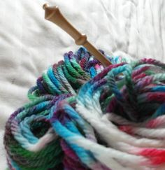 yarn wool hand dyed  yarn bulky weight 137 yard by threefatesfiber, $12.00